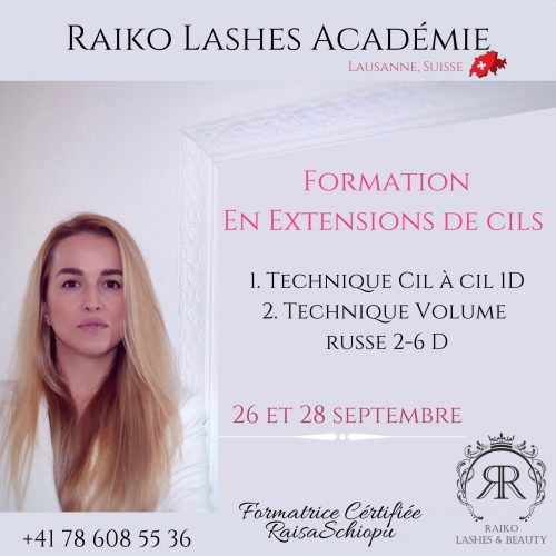 La Formation exprès en Extension de Cils Technique cil à cil 1D et Volume 2-6D