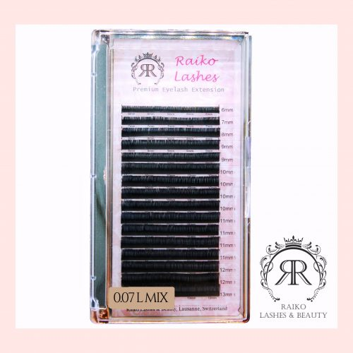 Cils Raiko Lashes MIX 0.07mm Courbure L