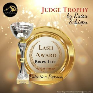 Best Brow Lift Trophy for @valentina_dluxpro ♥️♥️♥️
